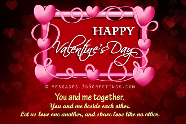 Valentine Greetings Message Love Notes