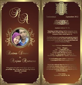 Kartu Undangan Pernikahan Islami