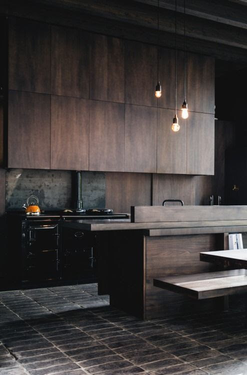 Dark and moody kitchen. #beauty