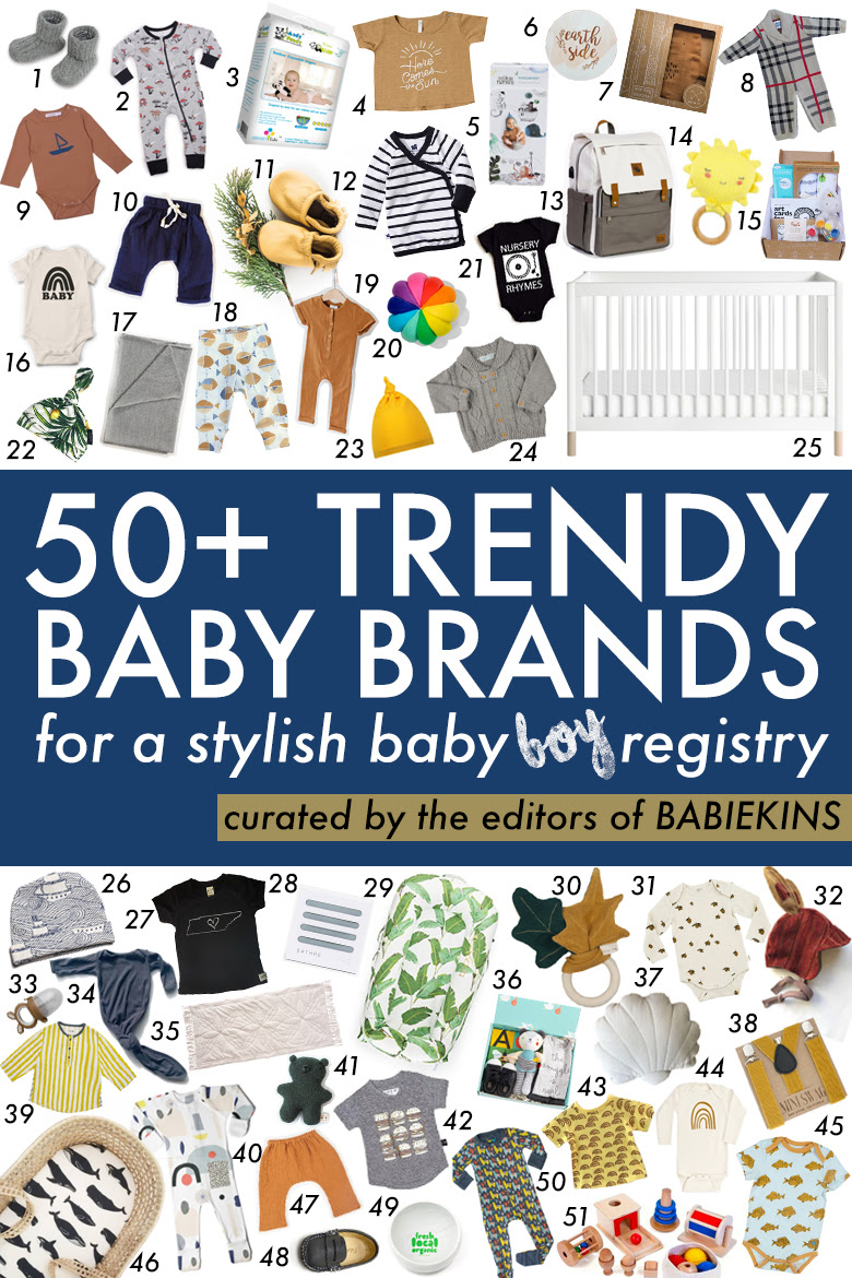 50 Baby Brands You Need to Follow for a Trendy Baby Registry