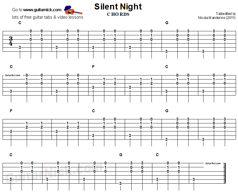 Silent Night Chords 2015confession