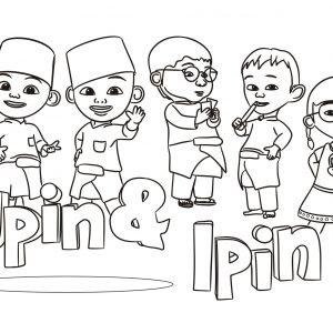 Koleksi Gambar Mewarnai Upin Dan Ipin Azhanco