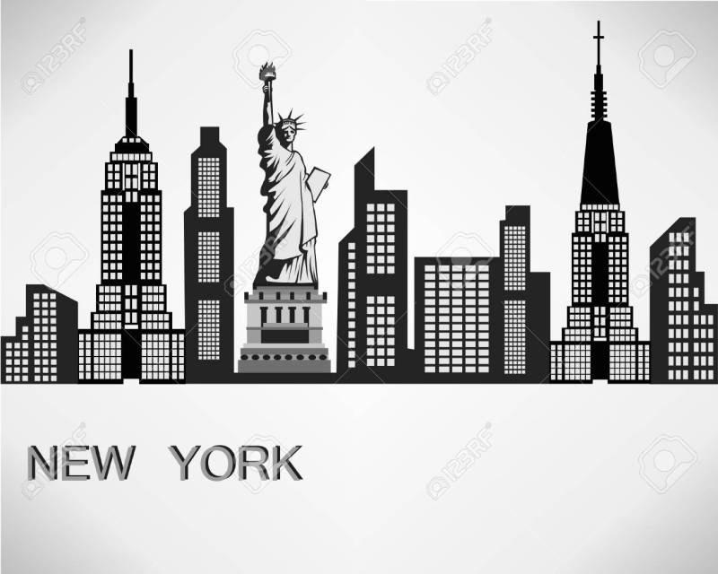 new york city skyline silhouette clip art
