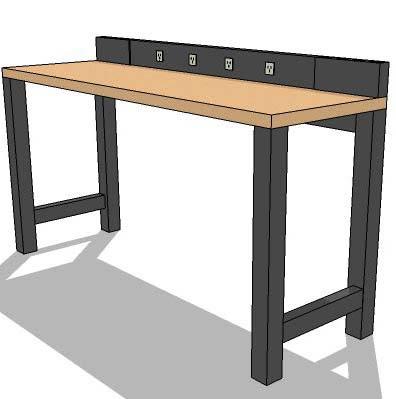 maple workbench-6ft 3D Model - FormFonts 3D Models & Textures