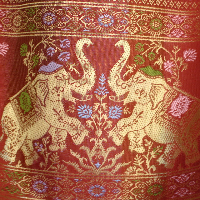 Elephant textile design, Chiang Mai