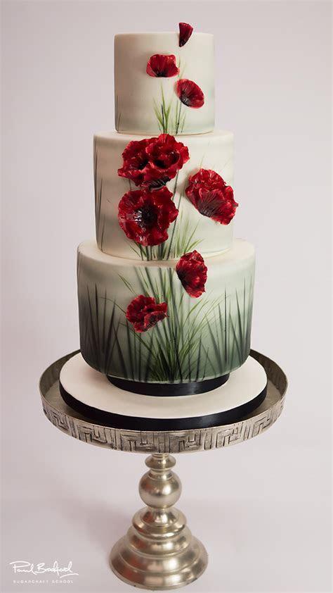 Poppy Wedding Cake   Paul Bradford Sugarcraft School