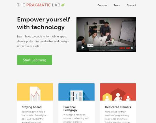 47.flat websites Beautiful Examples Of Flat Web Design