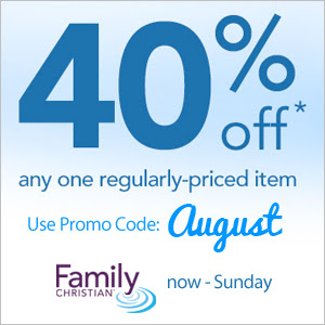 40% off one item with coupon code August now - Sunday August 17
