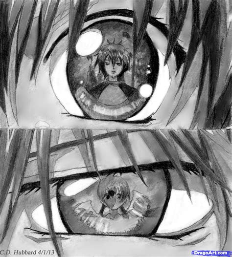 sketch anime eyes step  step anime eyes anime