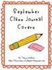September Class Writing Journal Covers