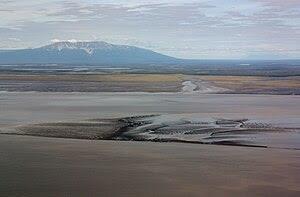 English: Mount Susitna (4396 feet); Susitna Ri...