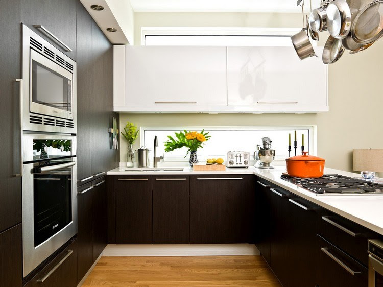 küche weiß schwarze arbeitsplatte  30 küchengestaltung