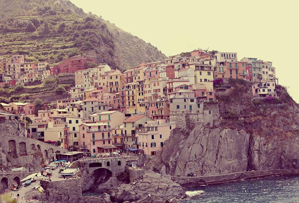 Landscape Photograph - Corniglia - Cinque Terre - Italy- Original Signed Fine Art Photograph