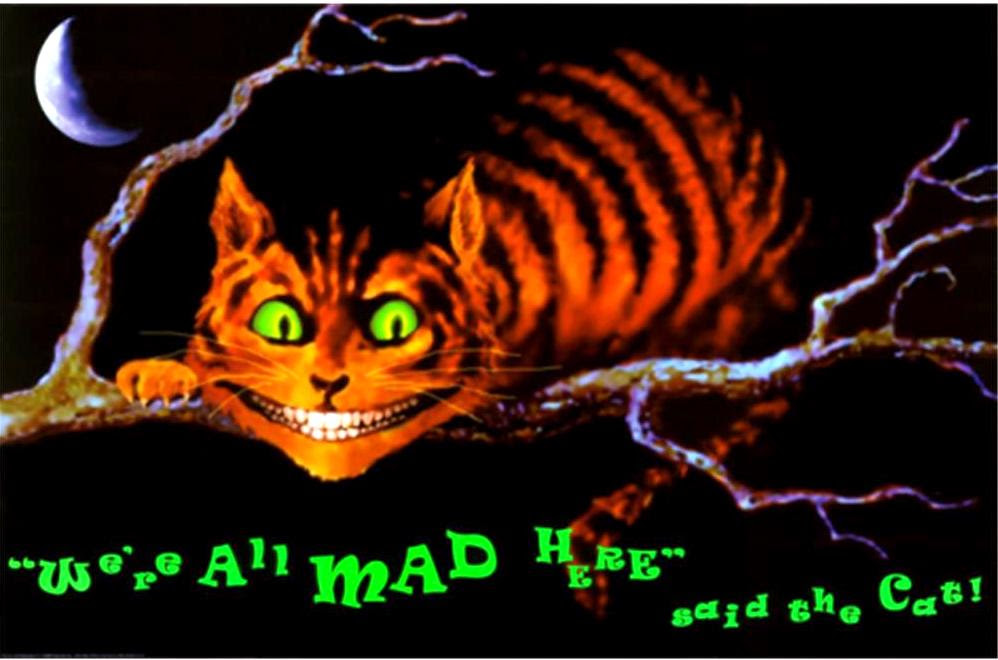 Alice In Wonderland Cheshire Cat We Are All Mad Here Said The