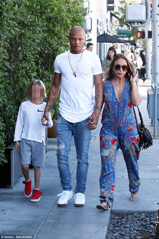Inseparable: This came just a day after he introduced the British Topshop heiress to 7-year-old Jeremy Junior, his son with Melissa, 38