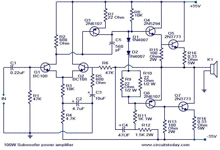 How To Make 1000w Subwoofer Circuit Board Circuit Diagram Images