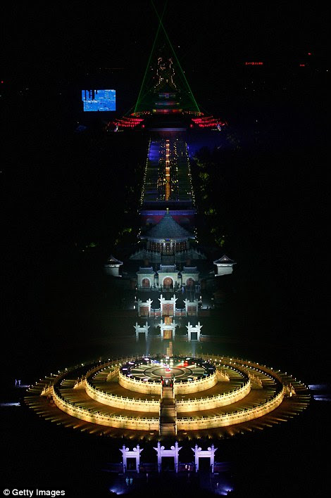 BEIJING: The Circular Mound is illuminated as Cina celebrates 2012 at the Temple of Heaven Park