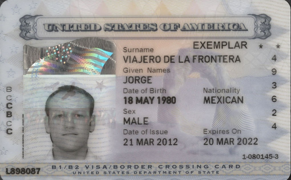 new 11 border crossing card period of stay