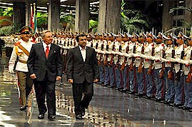 President Raul Castro of the Republic of Cuba hosted Mahmoud Ahmadinejad of the Islamic Republic of Iran in Havana during January 2012. The two nations have pledged to strengthen bi-lateral relations between the two revolutionary states. by Pan-African News Wire File Photos