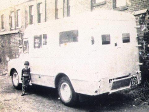 El autor de niño y la Seddon Diesel