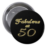 Fabulous at 50 Round Button