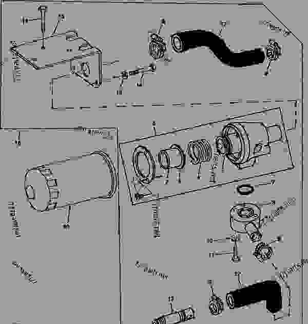 John Deere 850 Tractor Parts Diagram