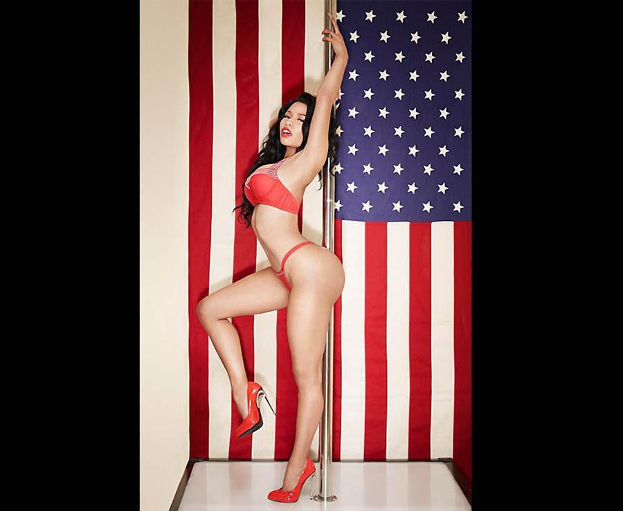 Nicki Minaj 2015 Calendar shot