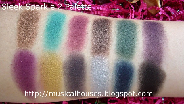 sleek sparkle 2 palette swatches