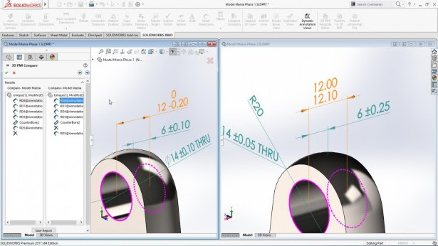 solidworks compare mbd