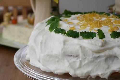 Spring cake with lemon curd, coconut and elderflower / Kevadtort kookosbiskviidi, sidrunikreemi ja leedrivahuga