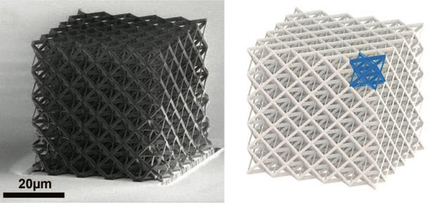 New Ultralight Ceramic Cubes Can Be Squished and Recover Like a Sponge