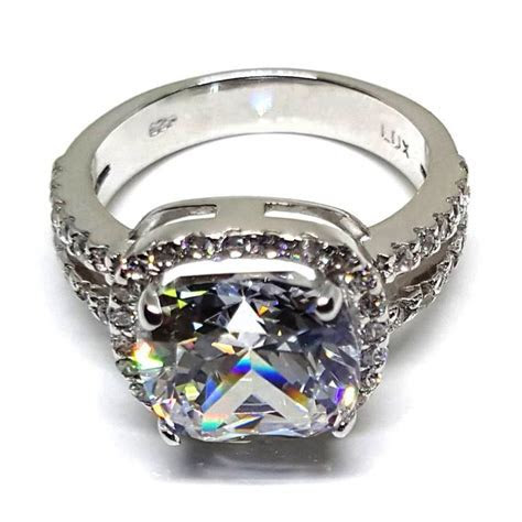 4 ct. cushion cut diamond engagement ring will rock her
