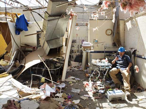 Casa destruída por um tornado em Vilonia, no Arkansas. (Foto: Wesley Hitt / Getty Images / AFP Photo)