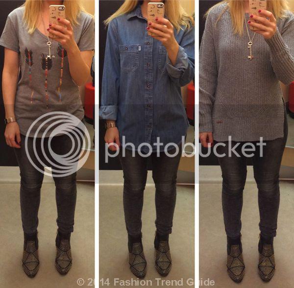 Toms for Target-Arrow Tee Denim Shirt Sweater
