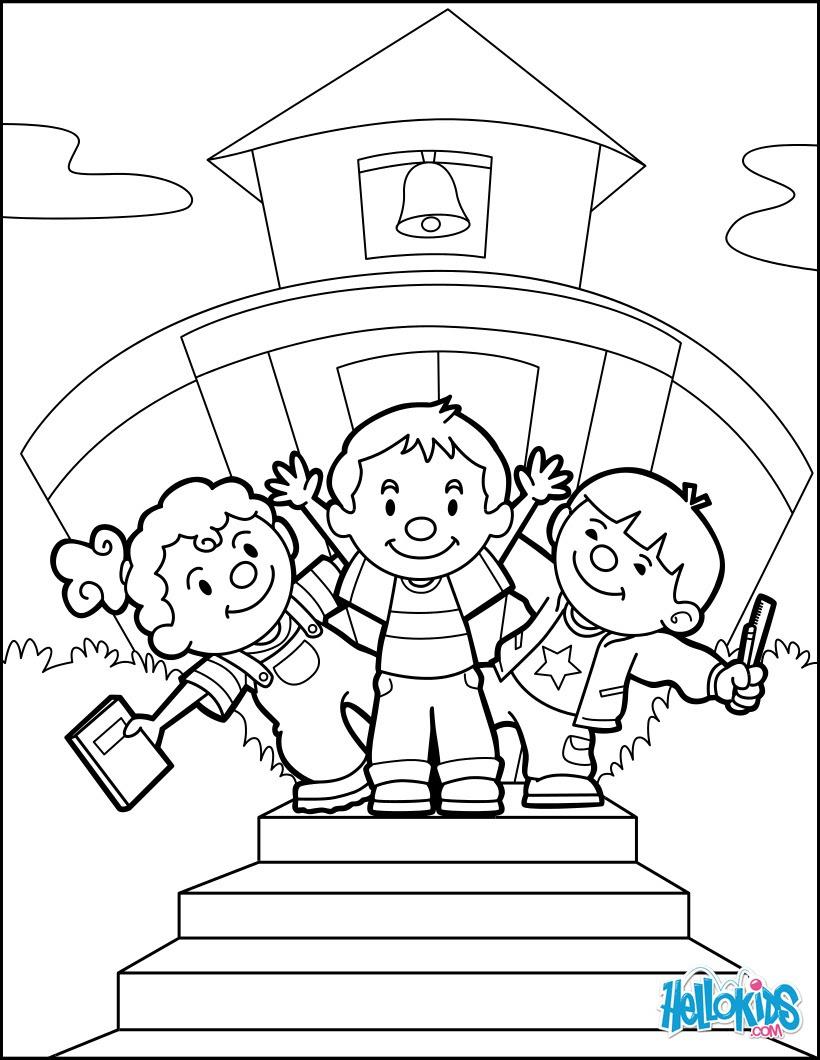 Dibujos Para Colorear De Vuelta A La Escuela Con Amigos Es