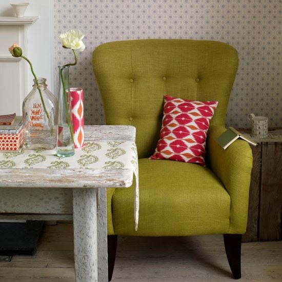 Desenli mobilyalar ile oturma odası | Renkli döşeme | Desenli sofra | Resim | Housetohome