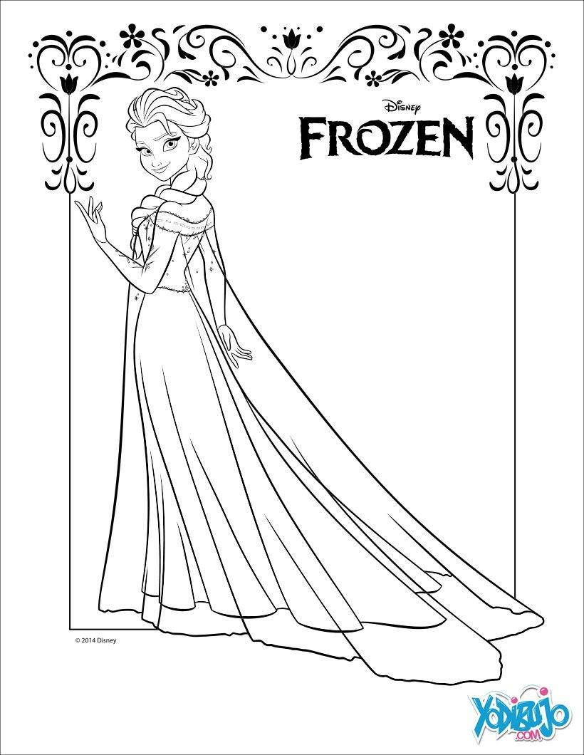 Juegos Dibujos Para Colorear Frozen