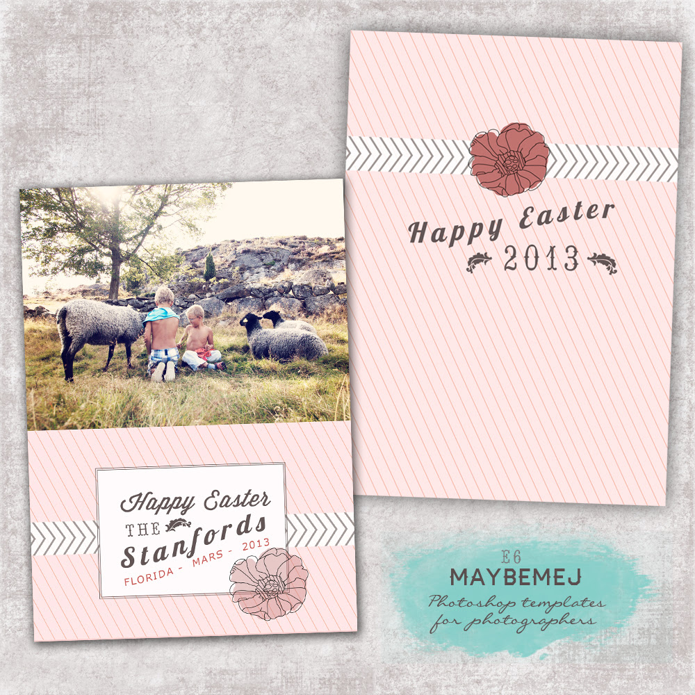 Easter card templates