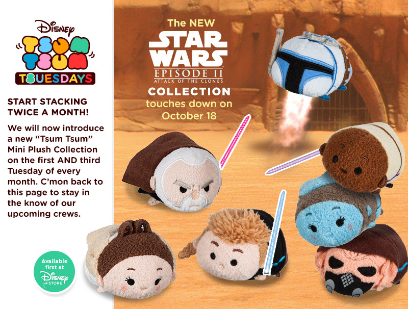 Star Wars : Attack of the Clones Tsum Tsum Official Release Date | Anakin and His Angel