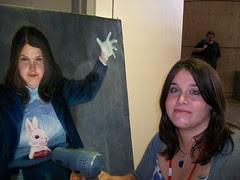 100_0402  Frank Cho's painting of Mara Herning as Zatanna