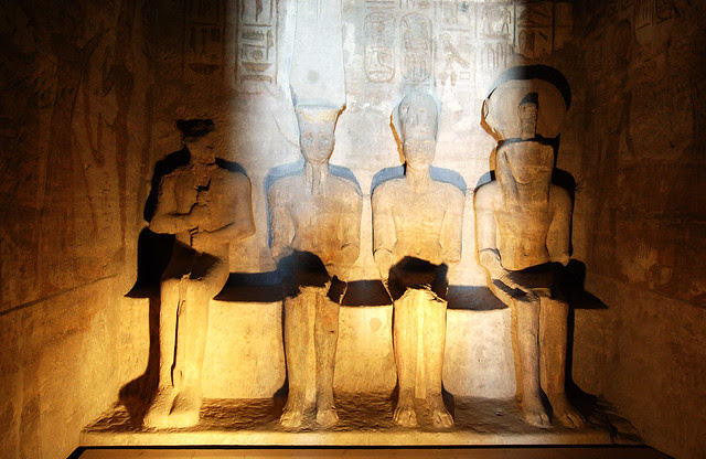 Statue of gods in Abu Simbel