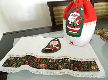 Presentinhos de natal com patchwork