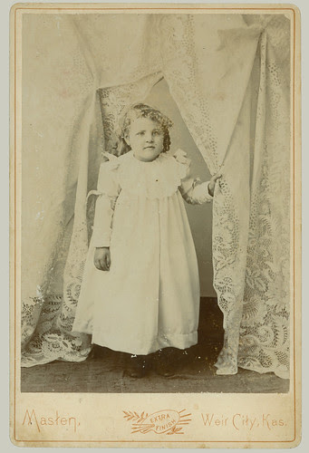 Cabinet Card small child and drapes