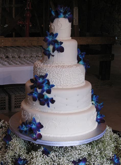 Katie's Cakes: Blue Orchid Wedding Cake