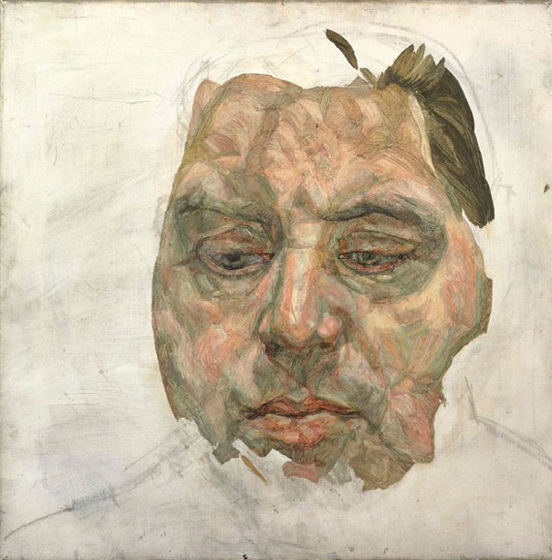 Lucian Freud Portrait of Francis Bacon (Unfinished)