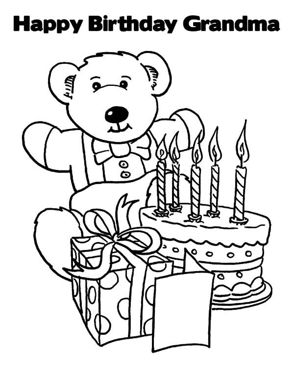 Happy Birthday Grandma Coloring Pages | Best Place to Color
