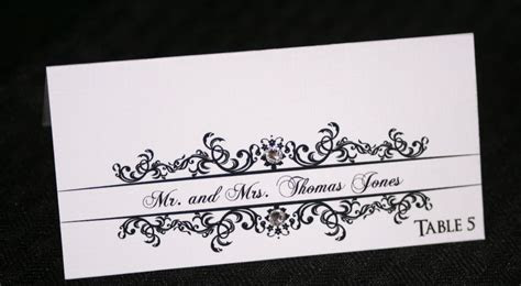 Classic Wedding Place Cards   Too Chic & Little Shab