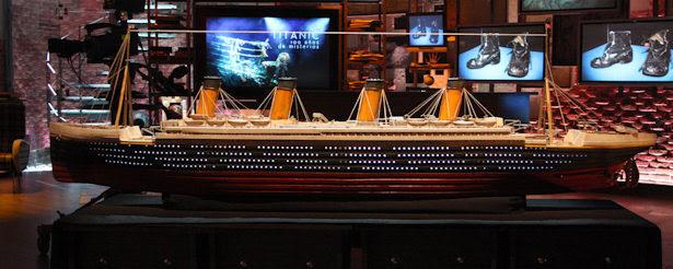 Maqueta del Titanic en el plató de 'Cuarto milenio'.