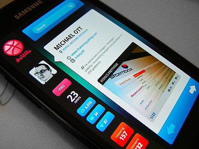 Android mobile app interface design