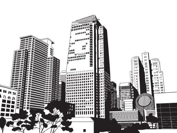 Bangunan Kota Vektor Misc Vektor Gratis Download Gratis